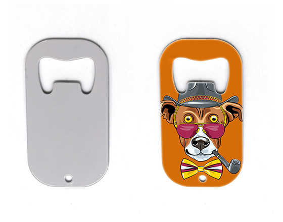 Sublimation Stainless Steel Dog Tag Bottle Opener