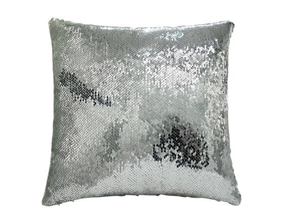 Sublimation Square Flip Magic Sequin Pillow Cover (Sliver)