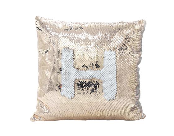 Sublimation Square Flip Magic Sequin Pillow Cover (Champagne)