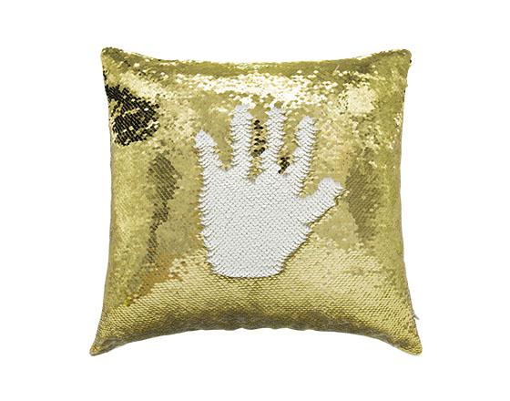 Sublimation Square Flip Magic Sequin Pillow Cover (Gold)