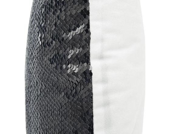 Sublimation Square Flip Magic Sequin Pillow Cover (Black)
