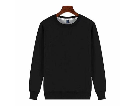 Sublimation Custom 500g Super Velvet Round Collar Guard Suit(Black)