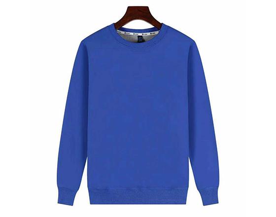 Sublimation Custom 500g Super Velvet Round Collar Guard Suit(Blue)