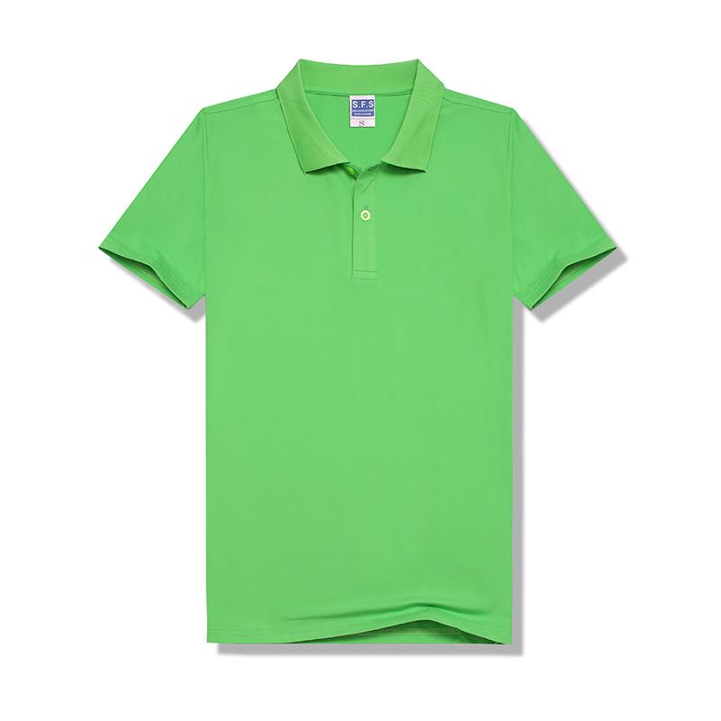 100% Polyester Sublimation Custom Pure Green Modal 200g POLO Neck Tshirt