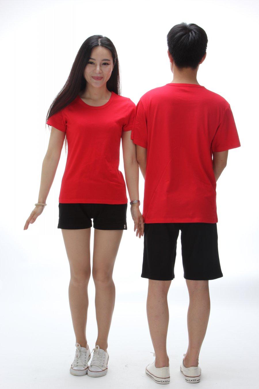 High Quality Cotton Custom Pure Color 185g Round Neck Tshirt
