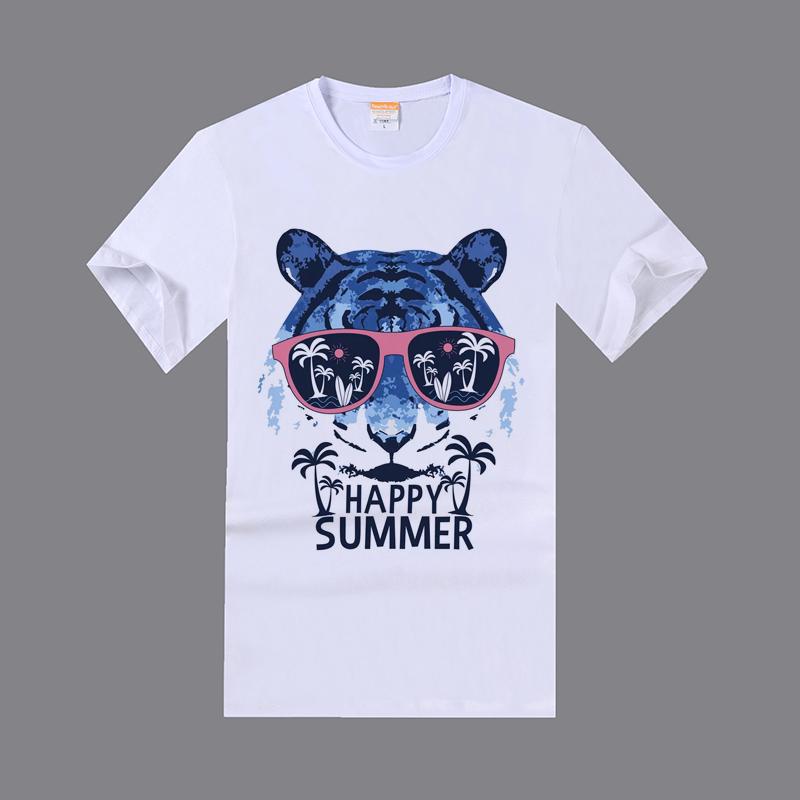 Sublimation Polyester Milk Slik 185g Round Neck Short Sleeves Tshirt