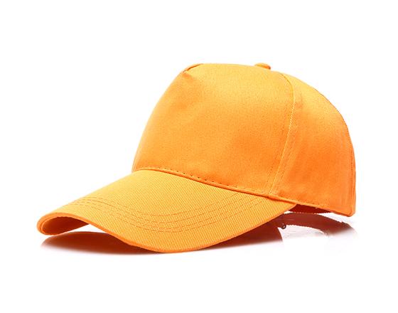 DIY Personalized Printable Cap Sublimation Cotton Hat with Iron Buckle(Orange)