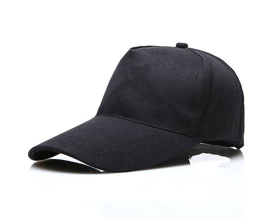 DIY Personalized Printable Cap Sublimation Cotton Hat with Iron Buckle(Black)