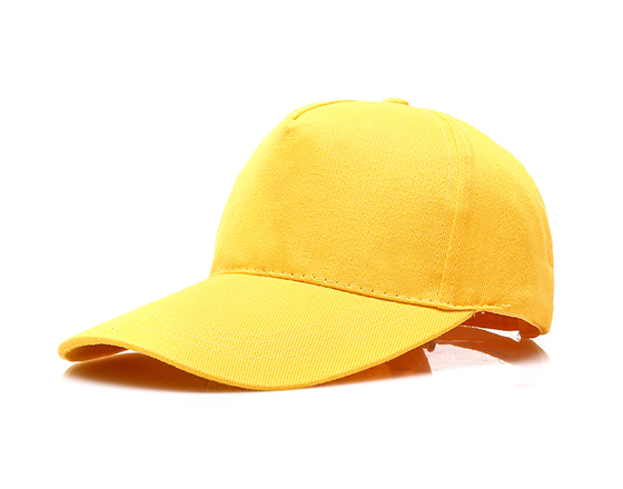 DIY Personalized Printable Cap Sublimation Cotton Hat with Iron Buckle(Yellow)
