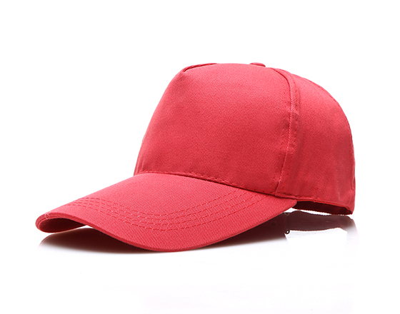 DIY Personalized Printable Cap Sublimation Cotton Hat with Iron Buckle(Red)