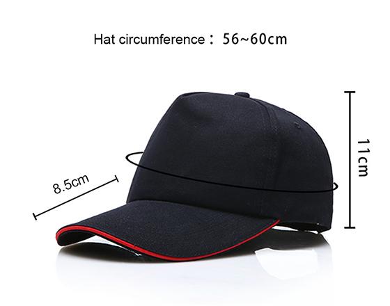 Sublimation Hat DIY Personalized Printable 100% Cotton Cap (Black)