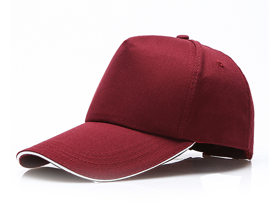DIY Personalized Printable 100% Cotton Cap Sublimation Hat (Wine Red)