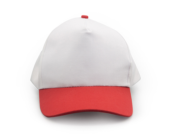 Customized Design Sublimation 5 Panel Two-Tone Color Cap Hat(Red)
