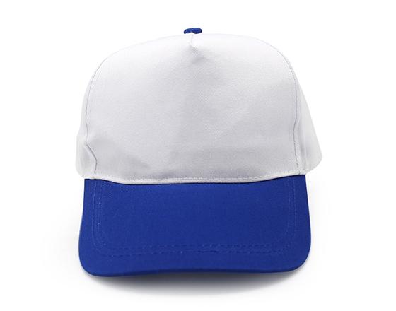 Customized Design Sublimation 5 Panel Two-Tone Color Cap Hat(Blue)