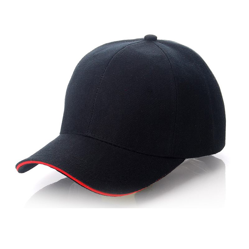 Customized Design Sublimation Color Edge Edge Cap Baseball Hat(Black)