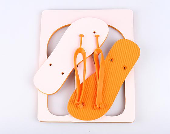 Customized Blank Sublimation Beach Sandals Flip Flops(Orange)