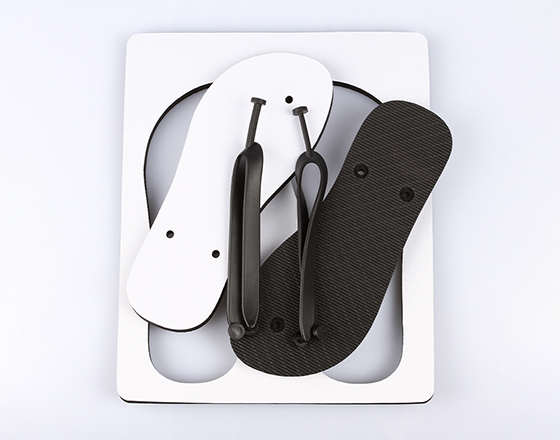 Customized Blank Sublimation Beach Sandals Flip Flops(Black)