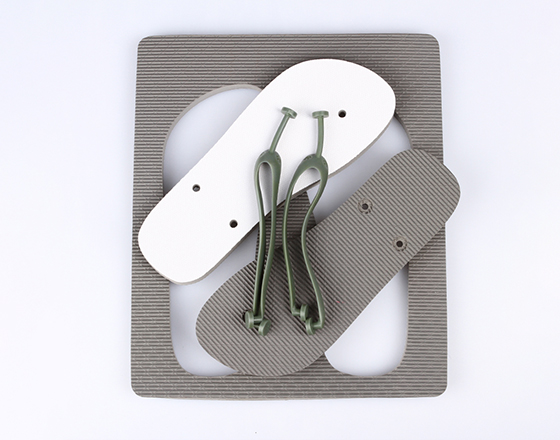 Customized Blank Sublimation Beach Sandals Flip Flops(Gray)