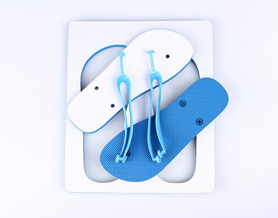 Customized Blank Sublimation Beach Sandals Flip Flops(Blue)