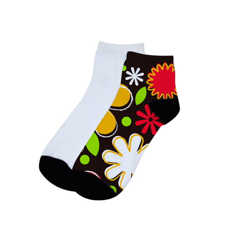 Personalized Logo DIY Heat Transfer Printing Sublimation Blank Ankle Socks