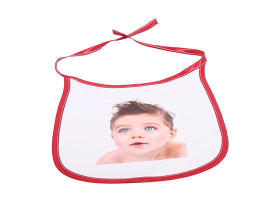 Custom Design Printable Sublimation Friendly Polyester Baby Blank Bibs(Red)