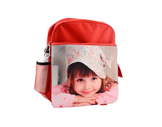 DIY Personalized Custom Bagpack Sublimation Blank Kids School Bag(Red)