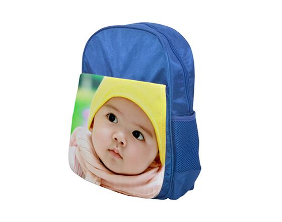DIY Personalized Custom Bagpack Sublimation Blank Kids School Bag(Blue)