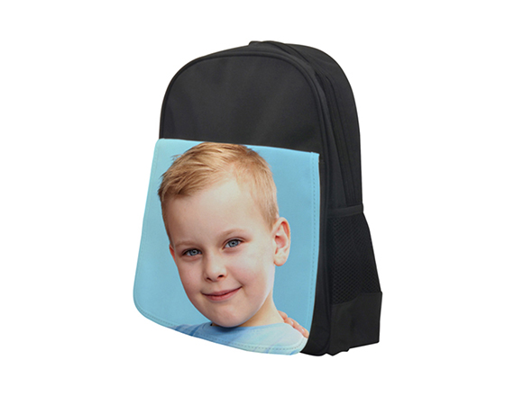 DIY Personalized Custom Bagpack Sublimation Blank Kids School Bag(Black)