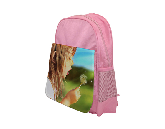 DIY Personalized Custom Bagpack Sublimation Blank Kids School Bag(Pink)