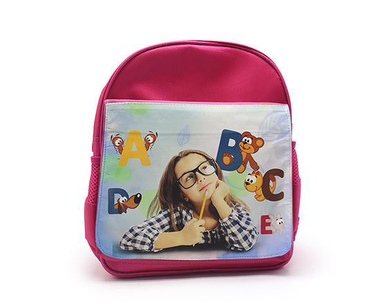 Sublimation Custom Bagpack Blank Kids School Bag(Red)