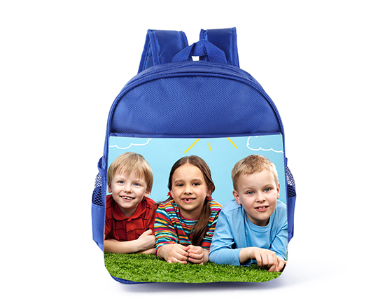 Sublimation Custom Bagpack Blank Kids School Bag(Blue)