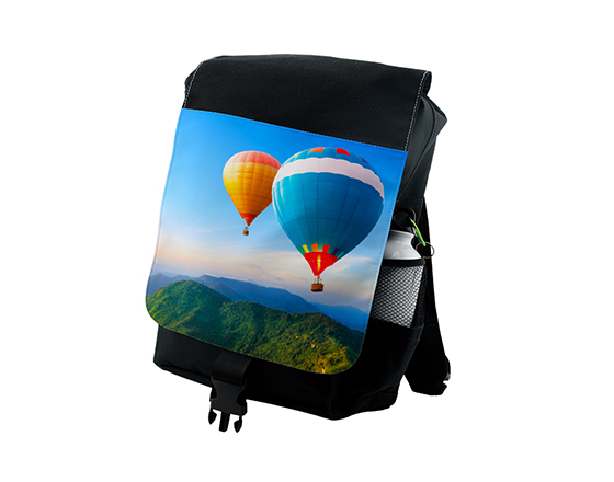 Custom Sublimation Black Adult Shoulder Sports Backpack