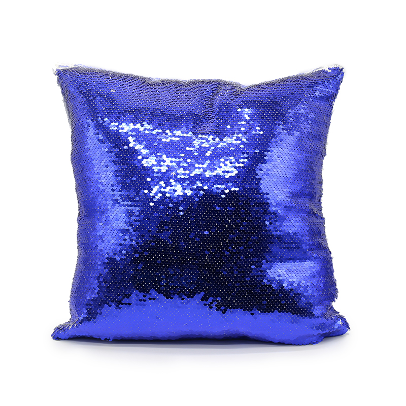 New Arrival Sequin Square Pillow Cover(Royal Blue)